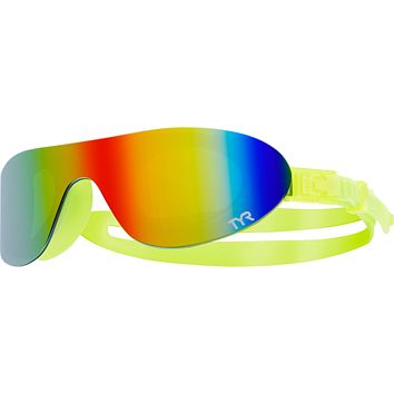 Tyr - Swim Shades Yellow Swim Goggles / Mirrored Rainbow Lenses