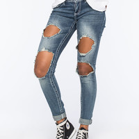 ALMOST FAMOUS Blow Out Womens Skinny Jeans   Skinny