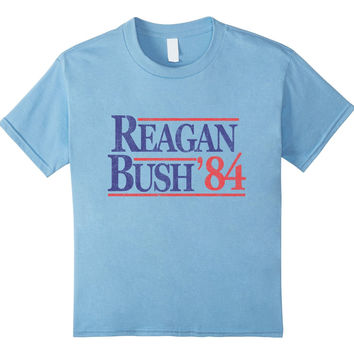 Ronald Reagan George Bush '84 Retro Republican T-Shirt