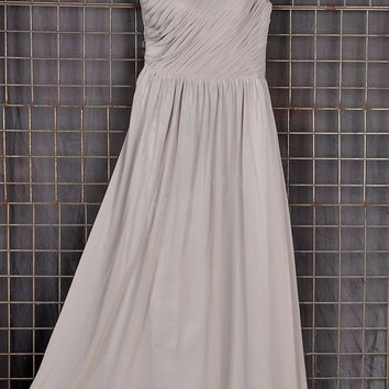 Light Gray Bridesmaid Dresses, Simple Long Prom Dress, Party Dresses,Evening Dresses,Wedding Party Dresses, Bridesmaid Dresses