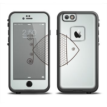 The Simple Vintage Fish on String Apple iPhone 6 LifeProof Fre Case Skin Set