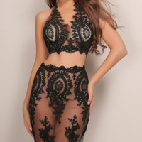 Alisha Lace Two Piece Outfit