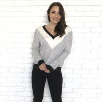 Love Me Knot V-Neck Sweater Top