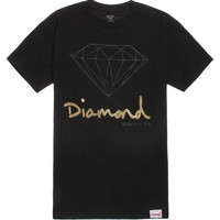Diamond Supply Co Script Logo T-Shirt - Mens Tee - Black