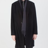 Unconstructed Classic Coat in Black Wool