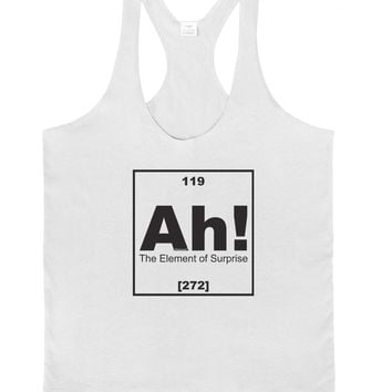 Ah the Element of Surprise Funny Science Mens String Tank Top by TooLoud