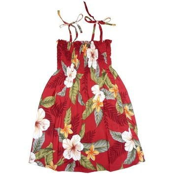 makaha red hawaiian girl sunkiss dress