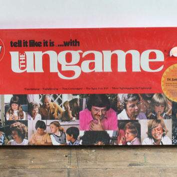 Dr. Dobson Tell it Like it is The Ungame - Christian Version - Family Game Night - Retro Board Game