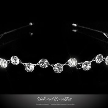 Nahia Solitaire Headband | Crystal