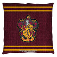 "Harry Potter ""Gryffindor"" 16x16 or 18x18 Throw Pillow"