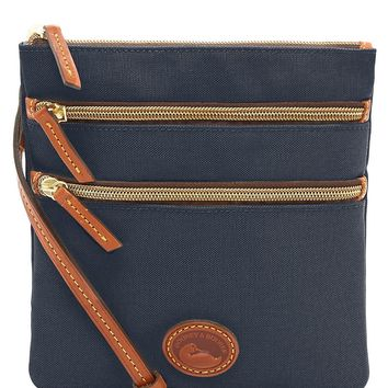 Dooney & Bourke Nylon Triple-Zip Cross-Body Bag | Dillard's