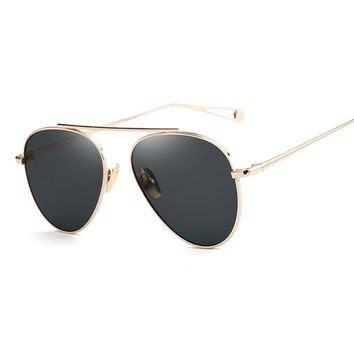 Rose Gold Mirror Retro Aviation Vintage Sun Glasses
