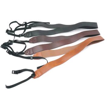 1Pcs New PU Leather Neck Shoulder Sling Belt Camera Strap for Sony Canon Nikon Photography Spare Parts
