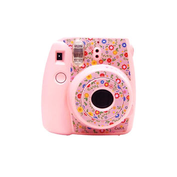 Fujifilm Instax Mini 8 Camera Sticker Decoration Blue Floral Pattern