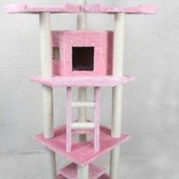 "76"" Cat Tree Condo Furniture Scratch Post Pet House 28P"