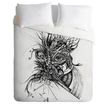 Brandon Dover Awake Duvet Cover