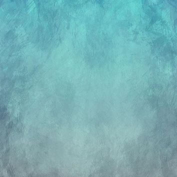 Printed Brush Textured Grunge Aqua Blue Gray Gradient Backdrop - 6959