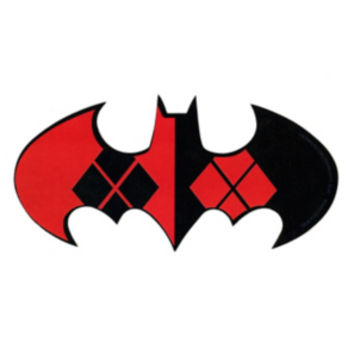 DC Comics Batman Harley Quinn Logo Sticker