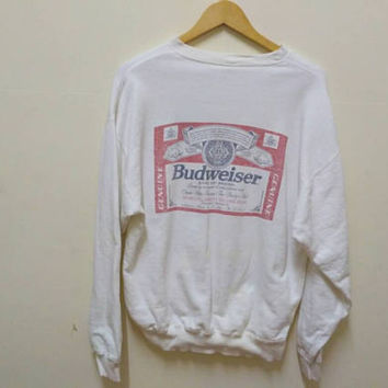 Budweiser sweatshirt king of Beers jumper big logo vintage