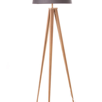 "Euro Style Collection Berlin 60"" Tripod Floor Lamp-Wood/Grey"