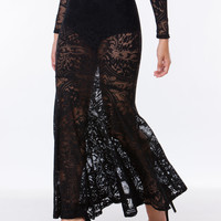 Lacy Disposition Mermaid Maxi Skirt GoJane.com