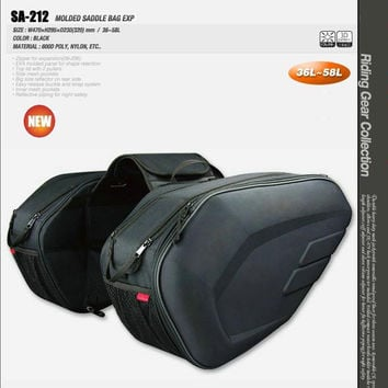 2017 Promotion Sa212 Saddle Bag / Motorcycle Side Helmet Oxford Riding Travel Bags + Rain Cover One Pair