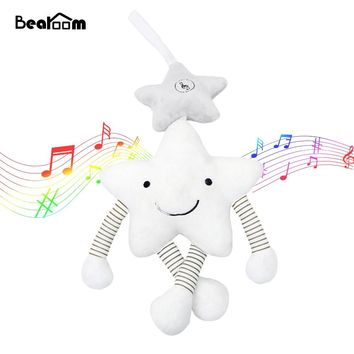 Bearoom Baby Rattle Stroller Toy Musical Mobile Baby Toys Cute Learning Edccation Cartoon Star For Infant Strollers Crib Hanging
