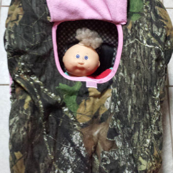 Girls Mossy Oak Realtree Camo Baby Car Seat Carrier Cozy Cover Up 4 Infant