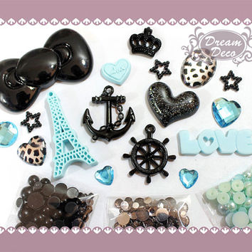 DIY cell phone case deco kit Bling Anchor cabochon by DreamDeco