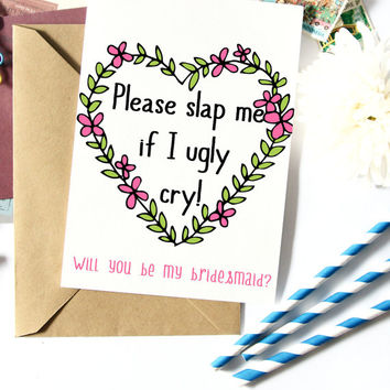 Funny Bridesmaid Proposal, Will You Be My Maid Of Honor, Asking