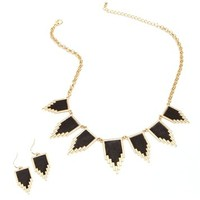 Gold Faux Leather Triangle Set