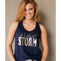 Women's Perfect Storm Boxy Tank - Midnight