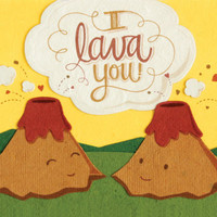 I Lava You Handmade Card