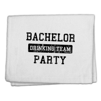 """Bachelor Party Drinking Team - Distressed 11""""x18"""" Dish Fingertip Towel"""