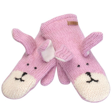 Bailey the Bunny Knit Mittens