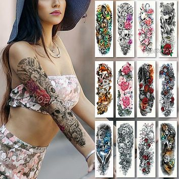 Extra large Arm Sleeve Temporary Tattoo