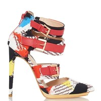Liliana Danielle-3 Pointy Toe Platform Heels - Red Multi from Liliana at ShopRoxx.com