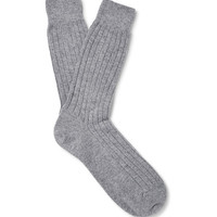 Sunspel - Ribbed-Knit Cashmere Socks