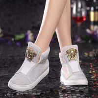Versace Sneakers With High Help Shoes-6