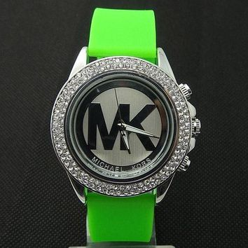 MK Michael Kors Trending Ladies Men Fashion Quartz Watches Wrist Watch Green Sliver G