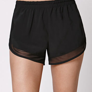 LA Hearts Mesh Inset Jogger Shorts at PacSun.com