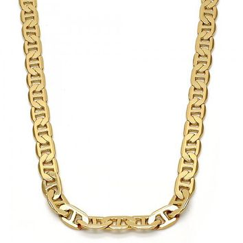 Gold Tone Basic Necklace, Mariner Design, Golden Tone