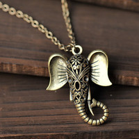 Auspicious necklace,hollow out elephant necklace ---N010