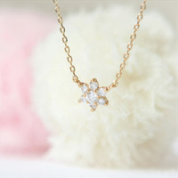 Snowflake Necklace by laonato on Etsy