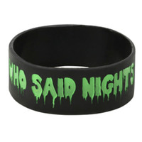 Who Said Nights Were For Sleeping? Rubber Bracelet