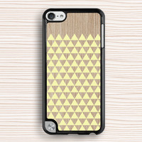 wood grain triangle ipod case,yellow triangle ipod 5 case,art wood grain ipod 4 case,wood grain design ipod 5 touch case,art design ipod touch 4 case,wood grain triangle touch 4 case,wood grain pattern touch 5 case