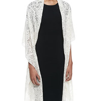 Valentino Butterfly Lace Shawl