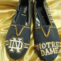 Notre Dame Toms Like hand Painted Canvas Shoes