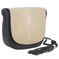 Renee Cross Body With Tassel-Black/ Putty