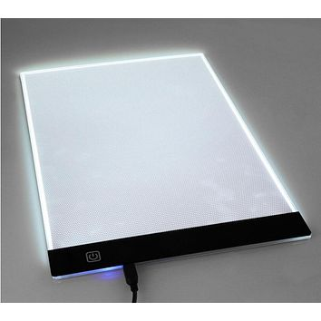 Ultra Thin A4 LED Light 1-2-3 file Stencil Touch Board Copy embroidery Painting Board Table Pad Tracing Drawing Table Board Y000